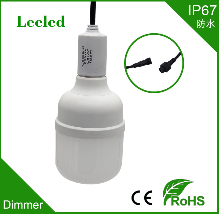 IP67 dimmer led bulb,dimmer led  light